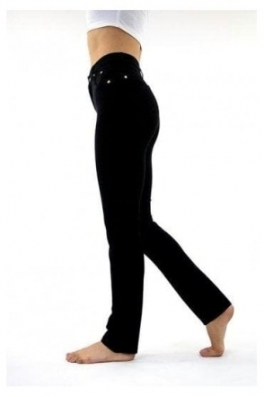 Soft Straight Leg Jeans - Black - 2403-101