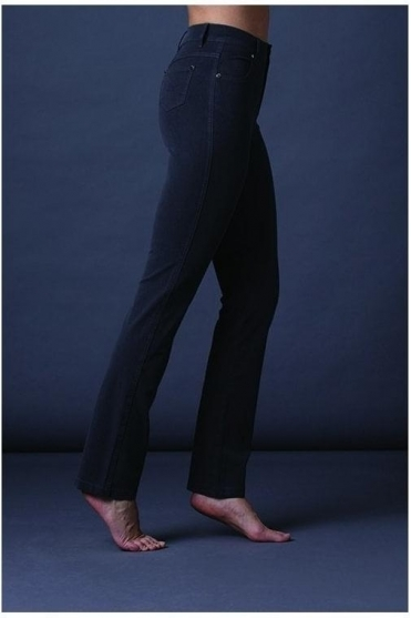Soft Straight Leg Jeans - Charcoal - 2403-105