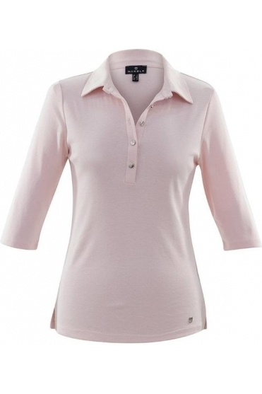 Tailored Collar Top - Pale Pink - 6058-120