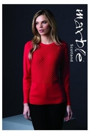 Teardrop Button Detail Jumper - Red - 5399-109