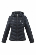 Marble Zip Shower Resistant Quilted Jacket - Charcoal - 5470-105