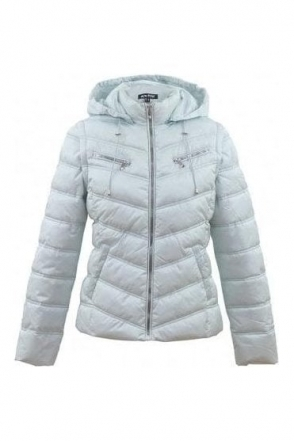 Zip Shower Resistant Quilted Jacket - Ice Blue - 5470-167