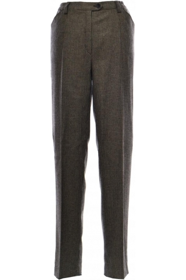 Blue Dot Comfort Dogtooth Wool Trousers - 1135-2563