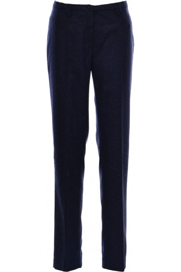 Blue Dot Fleck Wool Trousers - 1137-2562