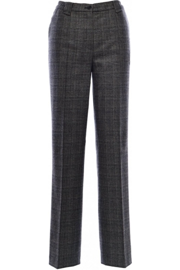 Green Dot Comfort Check Wool Trousers - 1424-2564