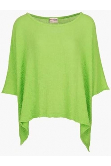 Oversized Dipped Hem Name it Jane Top - Green Pear - T498