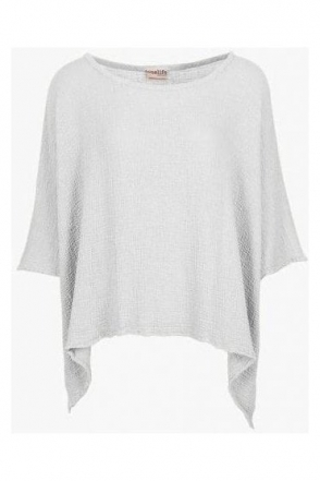 Oversized Dipped Hem Name it Jane Top - White Snow - T498