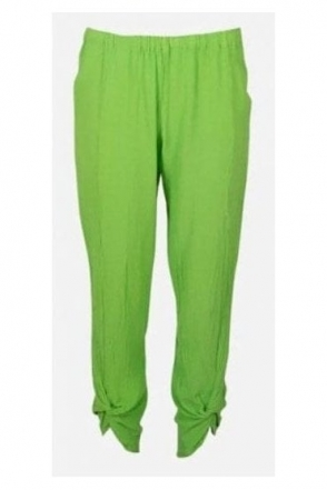 Twisted Hem Zoey Trousers - Pear - P521