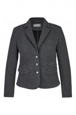 Brick Structured Short Length Jacket - Granite Grey - 45-122235-080