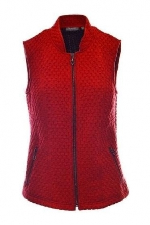 Brick Structured Waistcoat - Chilli Red - 45-122270