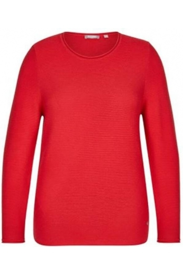 Diamond Embossed Detail Jumper - Chill Red - 45-022603-243