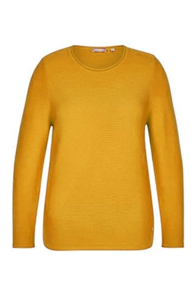 Rabe Fine Ribbed Detail Jumper - Honey Yellow - 45-022603-114