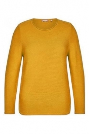Fine Ribbed Detail Jumper - Honey Yellow - 45-022603-114