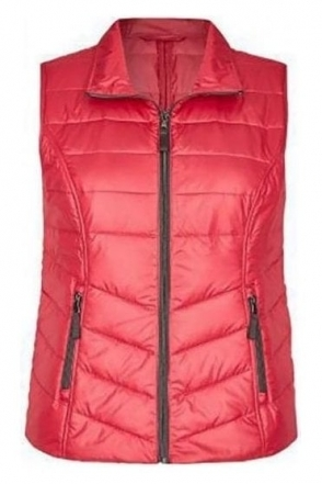 Panel Quilted Zip Gilet - Dark Pink - 43-021878-248