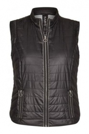 Quilted Panel Gilet - Black - 45-021872-099