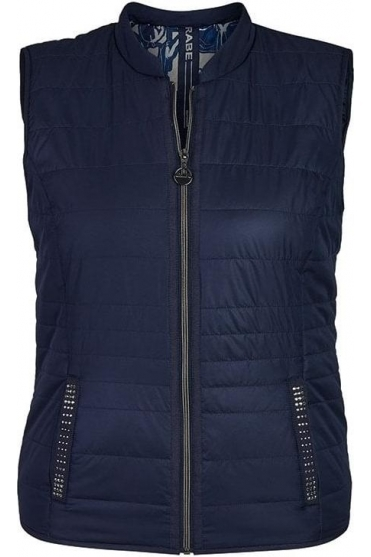 Quilted Panel Gilet - Navy - 45-023870-390