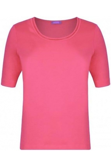 Stitch Detail Cotton Top - Pink - 42-323305-292