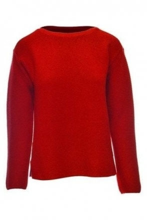 Zip Detail Ribbed Jumper - Chill Red - 45-321602-243