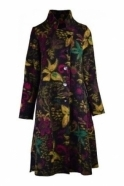 Ralston Tap Floral Print Wool Coat - 79072-9