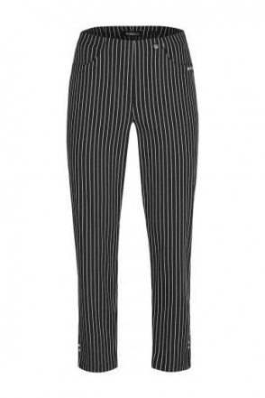 Bella 09 7/8 Structured Stripes Black 90 - 52483-54567