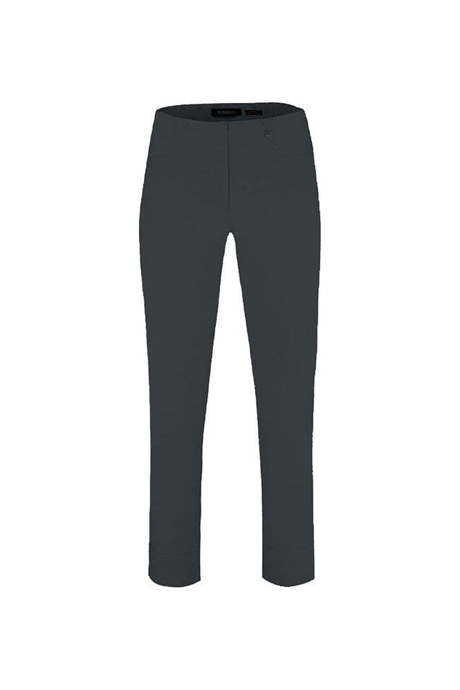 Robell Bella 09 Fleece Lined Trousers - Steel Blue - 51568-54025-64