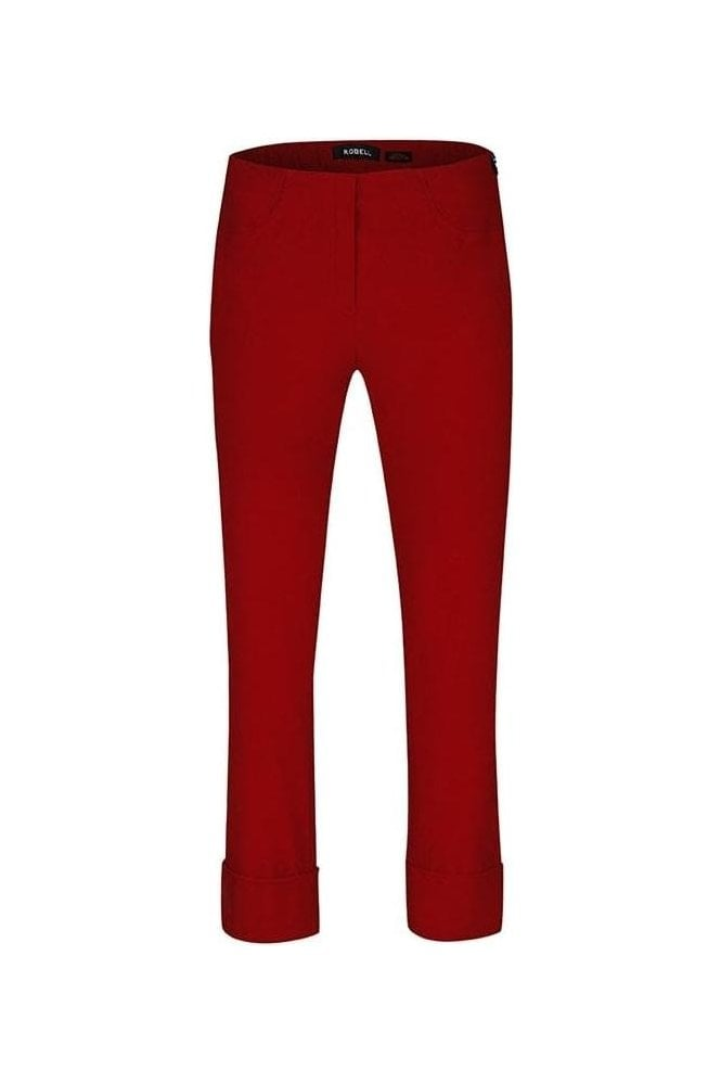 Robell Bella 09 Fleece Lined Trousers - Tomato Red - 51568-54025-46