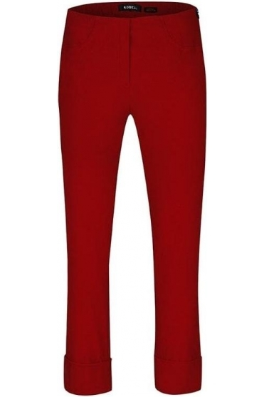 Bella 09 Fleece Lined Trousers - Tomato Red - 51568-54025-46