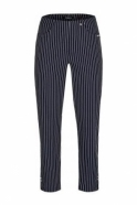 Robell Bella 09 Structured Stripes - Navy - 52483-54567-69