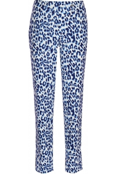 Bella F/L Leopard Print Trousers - Blue 65 - 51559-54710-65