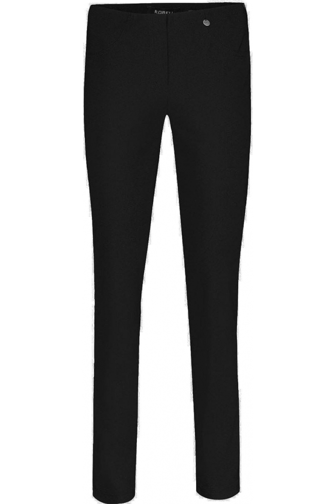 Robell Bella Full Length Fleece Lined Trousers Black - 51559-54025-90
