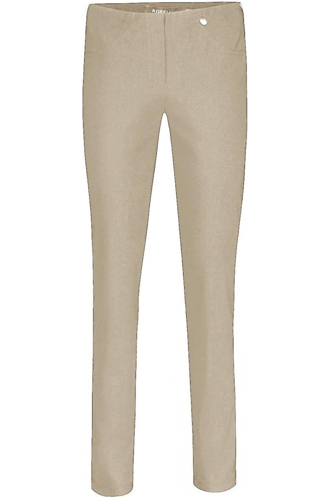 Robell Bella Full Length Taupe Trousers - 51559-5499-13