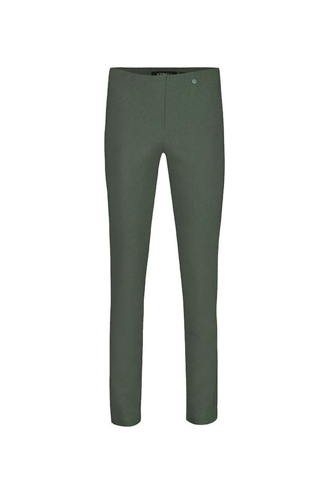 Robell Bella Short Length Trousers - Ivy Green - 51559-5499-881S