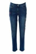 Robell Elena Slim Fit Embroidered Jeans - 52633-64