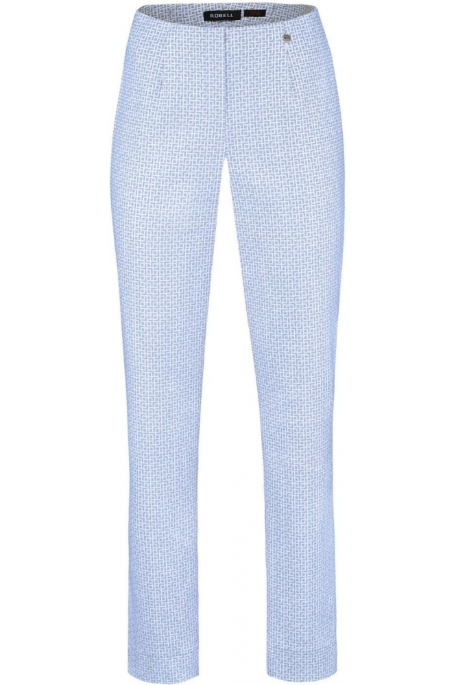 Robell Marie Full Length Jacquards Light Blue 62 - 51412-54073