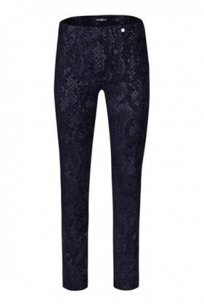Marie Snake Print Trousers - Navy - 51412-54825-69