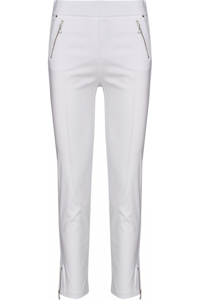 Robell Nena 09 7/8 Crop Trousers White 10 - 52490-5499-10