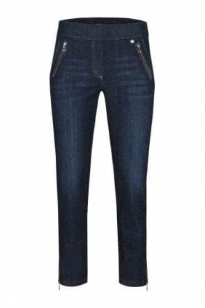 Nena 09 7/8 Crop Washed Denim Jeans - Denim Blue - 52489-54139-64