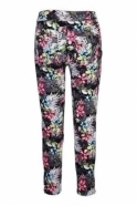 Robell Nena 09 Floral Print Trousers - Black - 52490-54874-90