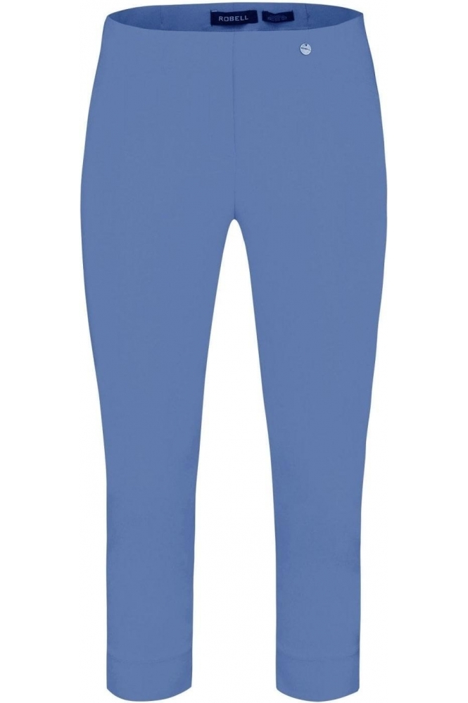 Robell Rose 07 Cropped Trousers - Azure Blue 600 - 51636-5499-600