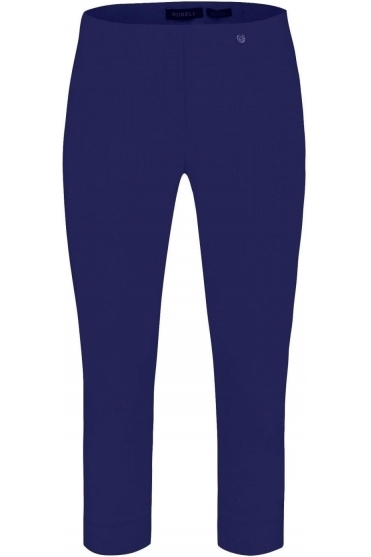 Rose 07 Cropped Trousers - Denim Blue 68 - 51636-5499-68