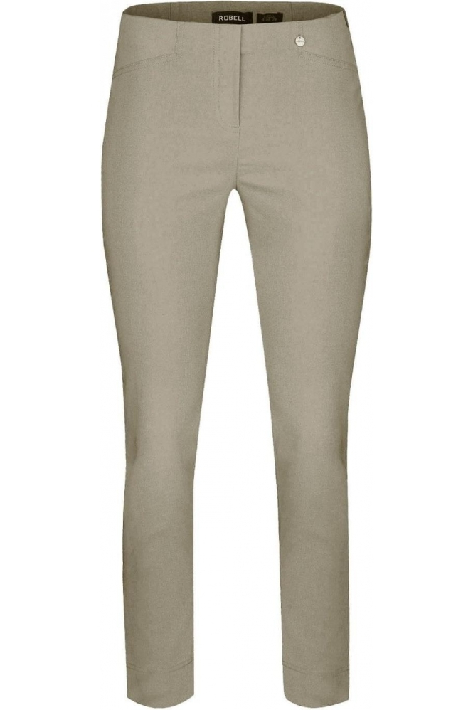 Robell Rose 09 7/8 Light Taupe Trousers - 51527-5499-13