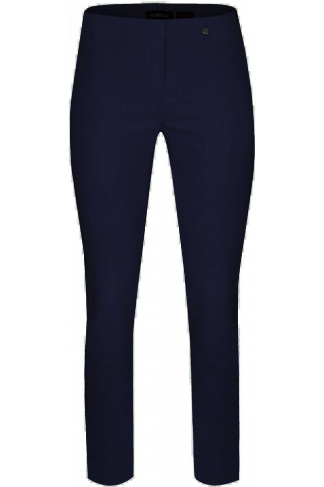 Robell Rose 09 7/8 Navy Trousers - 51527-5499-69