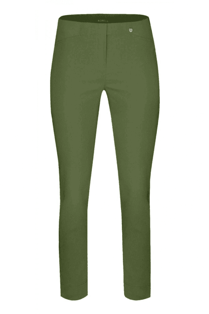 Robell Rose 09 7/8 Olive Trousers - 51527-5499-86