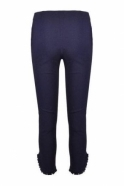 Robell Rose 09 7/8  Pleated Stud Detail  Trousers  - Navy 69 - 51621-5499-69