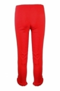 Robell Rose 09 7/8 Pleated Stud Detail Trousers - Red - 51621-5499-40