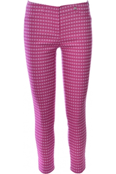 Rose 7/8 Print Trousers - Pink - 51527-54519-43