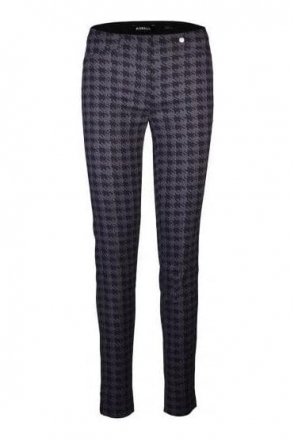 Rose Full Length Houndstooth Trousers - Almond/Black - 52624-54815-38