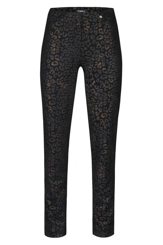 Robell Rose Leopard Print Trousers - 52625-54786-90