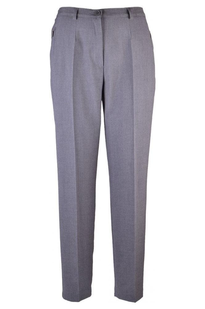 Robell Sahra Short Length Trousers - Grey - 51562-5405-197
