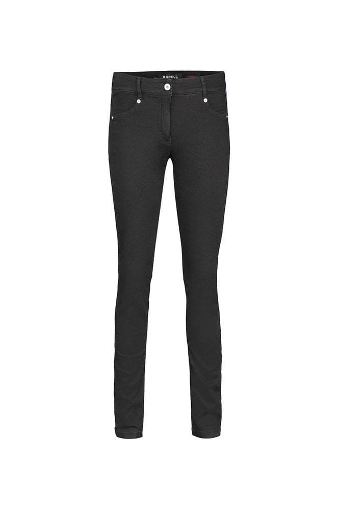 Robell Star Super Slim Fit Jeans - Black - 51601-54808-90